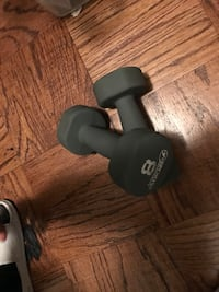 two 8 pound gray dumbbells Capitol Heights, 20743