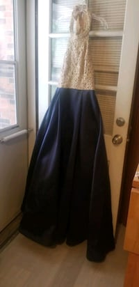 Navy and Gold Formal Dress