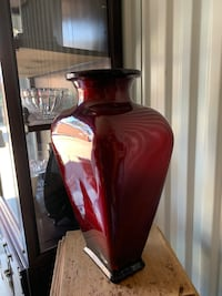 Large blood red vase from Spain