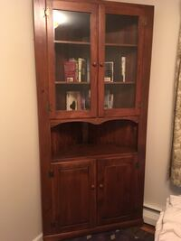 Brown wooden framed glass display cabinet Tinton Falls, 07724