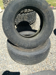 two Michelin radial tires