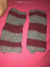 two black-and-gray knitted socks 373 mi