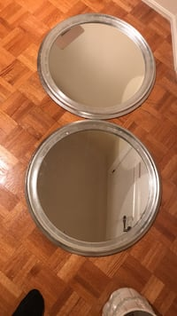 "Two round grey mirrors 23"" diameter Vaughan, L4H 1V8"