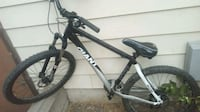 black and white hardtail mountain bike Red Deer, T4R 2M9