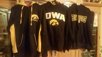 College hoodie / zip up jacket  size adult small &  med