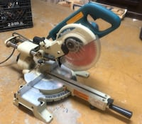 "Makita  7.5"" dual beveling, sliding compound mitre saw"