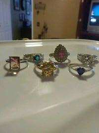 Sterling silver rings size 9