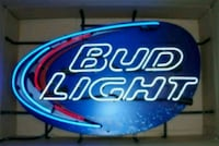 blue and red Bud Light neon signage 42 mi