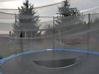 black and blue trampoline with safety net Lakefield, K0L 2H0