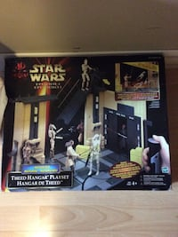Two Star Wars Theed Hangar Playsets One in box one no box