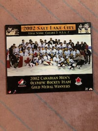 HARD LAMINATE 2002 TEAM CANADA HOCKEY GOLD MEDAL POSTER!!!!!