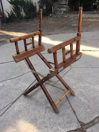 Brown Wooden Folding Director's Chair Los Angeles, 91423
