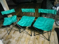 Green folding chairs - bag included Simcoe County, L0L 2J0