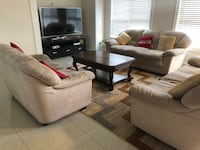 Sofa set with Table and Cushions