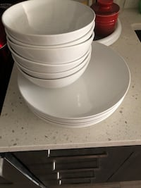 Ikea white plates and bowls