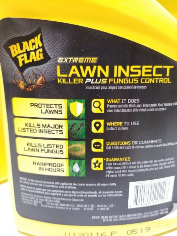 BLACK FLAG EXTREME Lawn Insect Killer Plus Fungus Control Fast Acting 32oz cf1ad242-585d-4e0a-9e21-912d73f52338