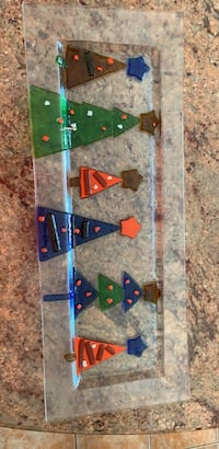 Large transparent glass Christmas tree tray  Vaughan, L4H 2S6