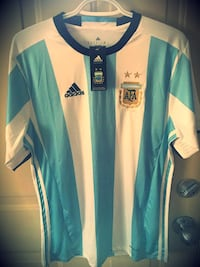 VINTAGE ARGENTINA JERSEY- NEW/with Tags- Stitched- Medium Toronto