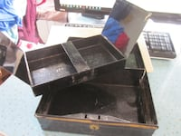 Vintage England Metal Cash Box with Tray Winnipeg