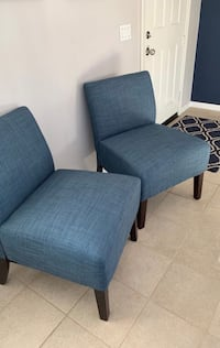Two Denim Blue Accent Chairs Beaumont, 92223