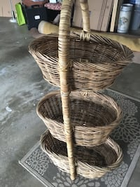 French tiered wicker basket North Potomac, 20878