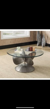 Aged metal coffee table Bellair, 32073