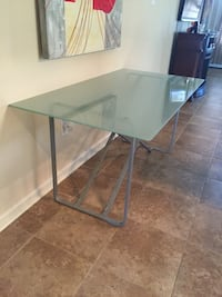 Grey metal framed clear glass top side table  Baton Rouge, 70820