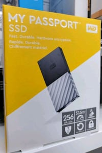 WD My Passport 256 Gb SSD brand new sealed.