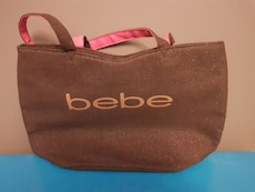 brown bebe tote bag