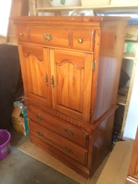 Pine dresser with mirror night stand and tall dresser Penetanguishene, L9M 2G6