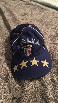 blue and yellow Italia fitted cap
