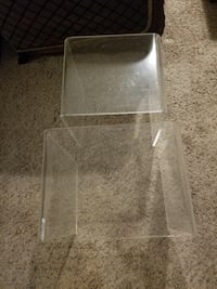 Two Acrylic Nesting Tables Lithonia, 30058