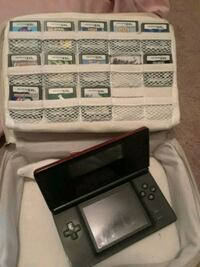 Red Nintendo DS with game cartridges Virginia Beach, 23464