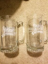 Sam Adam's beer mugs (x2) New Castle, 19720