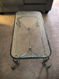 metal frame with glass top. Coffee table & 2 end tables London, N6G