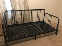 black metal bed frame with white mattress Carrboro, 27516