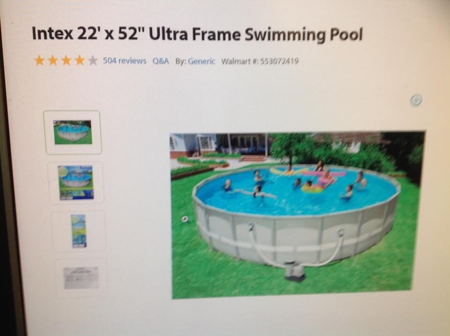 used intex 22 x 52 ultra frame swimming pool in lincolnton