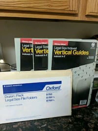 File Cabinet Indexed Dividers and Folders