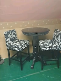 Round black wooden table with two chairs Ashland, 44805