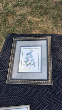 white and blue flower painting with brown wooden frame Dix Hills, 11746
