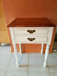 white and brown wooden 2-drawer nightstand Boca Raton, 33498