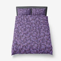 Purple grape bedding set