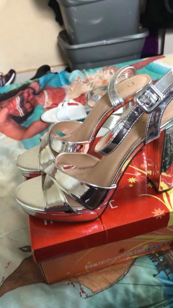 6bbd5103050 Used Pair of silver open toe heels for sale in Philadelphia - letgo