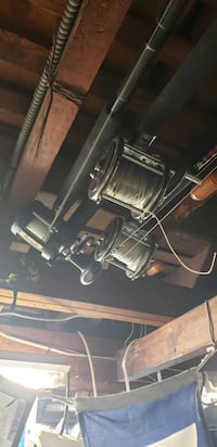 Asst fishing poles w/reels and line