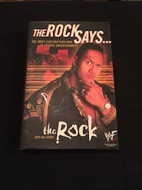 WWE-The Rock: The Rock Says...Book - Biography - Hardback (EX/VG+) Baltimore, 21211