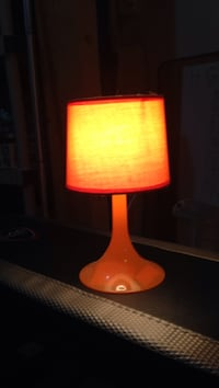 Orange Plastic Lamp