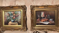 Two brown wooden framed paintings Corona, 92880