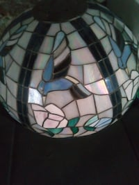 white, green, and blue stained glass kitchen lamp Philadelphia