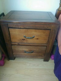 brown wooden 2-drawer nightstand Palm Harbor, 34683