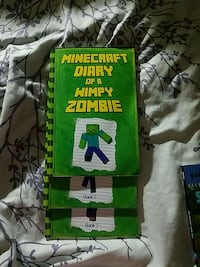 Minecraft diary of a wimpy zombie book 1,2 and 3.